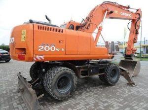 Doosan Daewoo Solar 200w-v Wheel Excavator Service Repair Manual