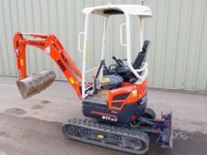 Kubota U17-3α Micro Excavator Service Repair Workshop Manual