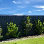 Black Oscillot system on coloursteel fence, Central Otago, New Zealand