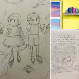 Collage of works in progress for the first Barry and Molly animation!