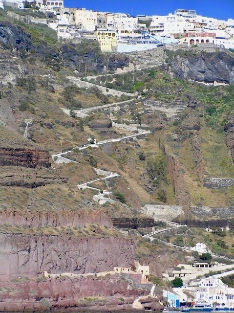 Climb up Santorini