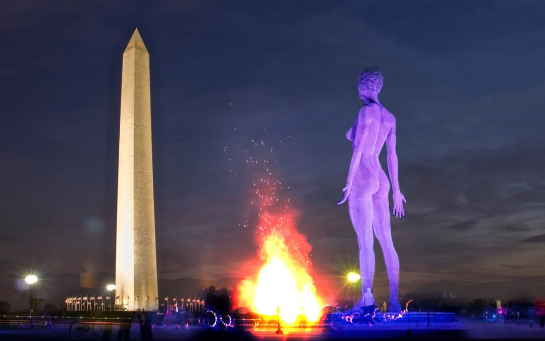 Here's why a 45-foot tall nude sculpture may be coming to the National Mall