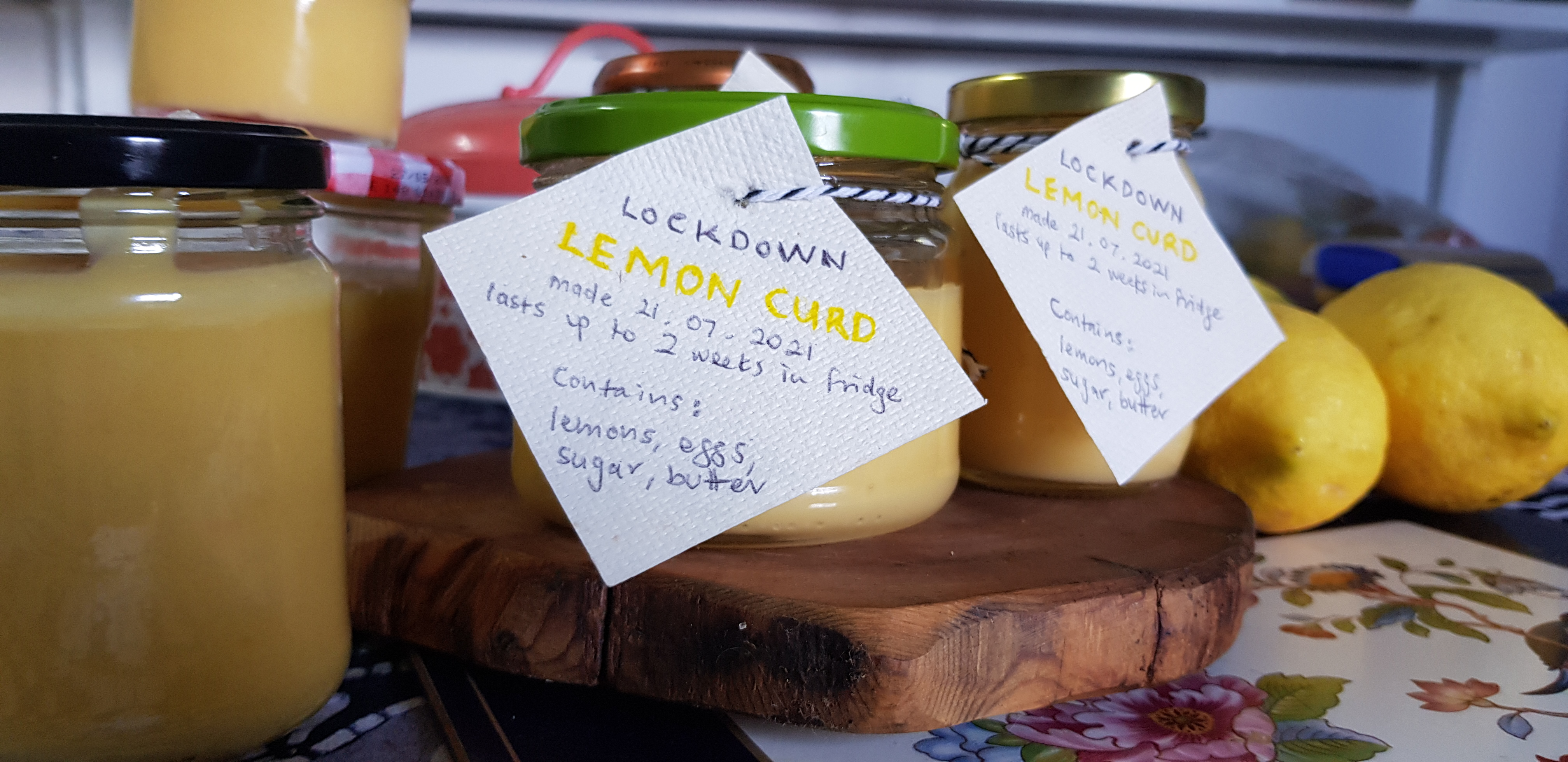 Jars of Lemon Curd