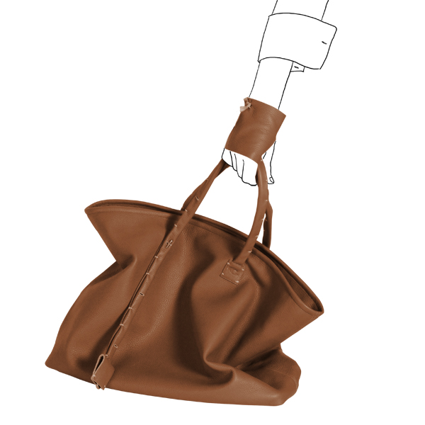 bag simpli-cube leather Catherine Loiret caramel Catherine Loiret
