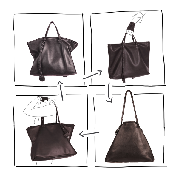 bag simpli-cube leather Catherine Loiret Catherine Loiret