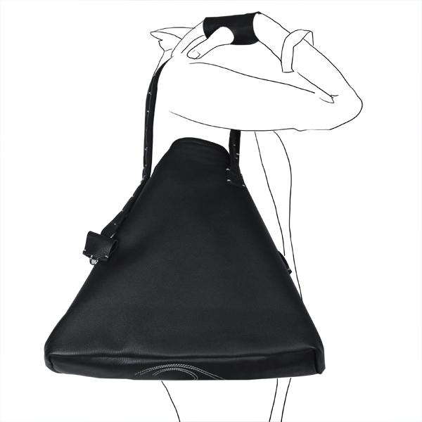 bag simpli-cube leather Catherine Loiret noir Catherine Loiret