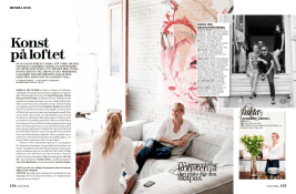 & pages in feature in Plaza Kvinna Magazine