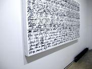 "TANC, Untitled, Spray Paint on Canvas, 57""x101""x4"""