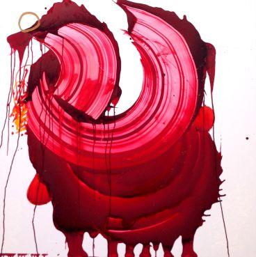 """JONAS """"SUN7"""" BOURNAT, Love Explosion, Oil Paint on Dibond, 48"""" x 48"""""""