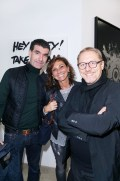 Luca Bulcinelli, Carmelina Santoro, Max Baldieri== PERRIER X L'ATLAS Collaboration Launch== Catherine Ahnell Galleryyy, New York== October 28, 2015== ©Patrick McMullan== Photo-Jimi Celeste/PMC==