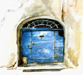 Blue Door, France - sold