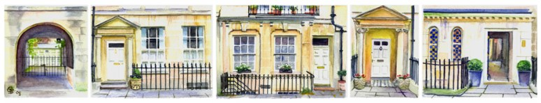 Brock Street Doorways, slice - sold, limited edition print