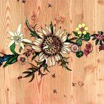 Carline Peinture sur bois