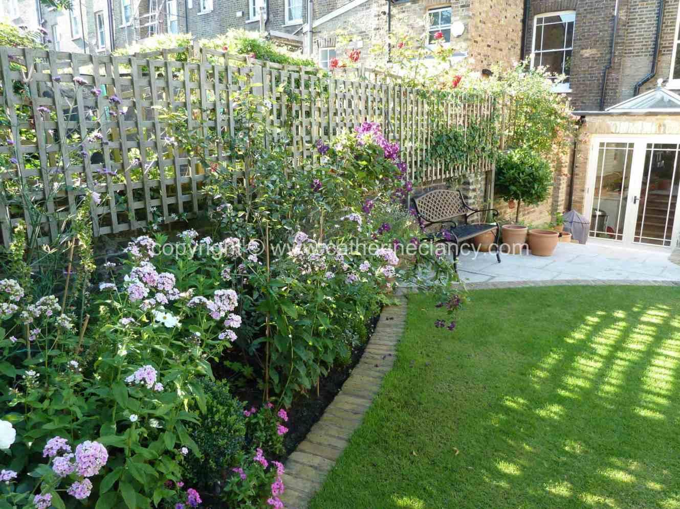 north facing garden design