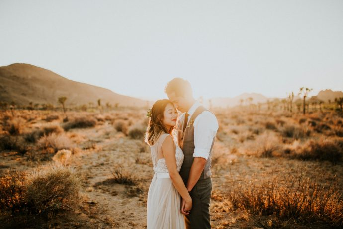 Mandy & Joey Joshua Tree Elopement California Wedding Photographer-246