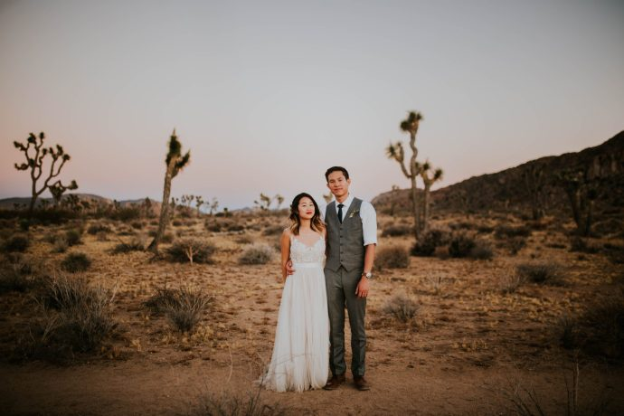 Mandy & Joey Joshua Tree Elopement California Wedding Photographer-299