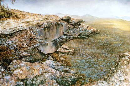 The Grampians 6' x 4', mixed media