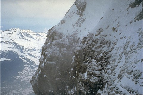 © R.Robert, Catherine Destivelle during her winter solo climb of Eiger