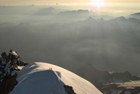 © R.Robert; On the summit  of the Aguille Verte, Chamonix