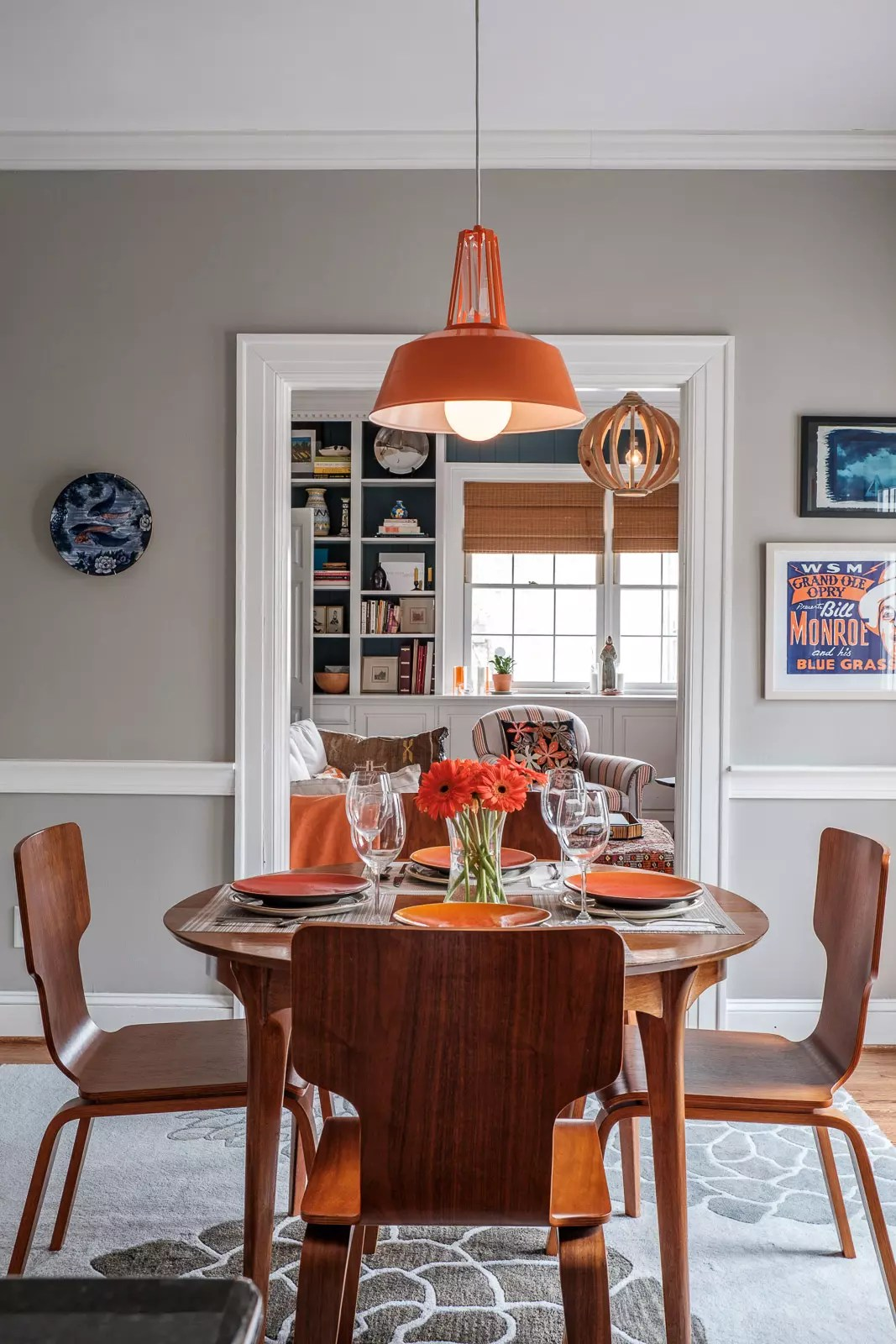 Orange Breakfast Area - Interior Designer