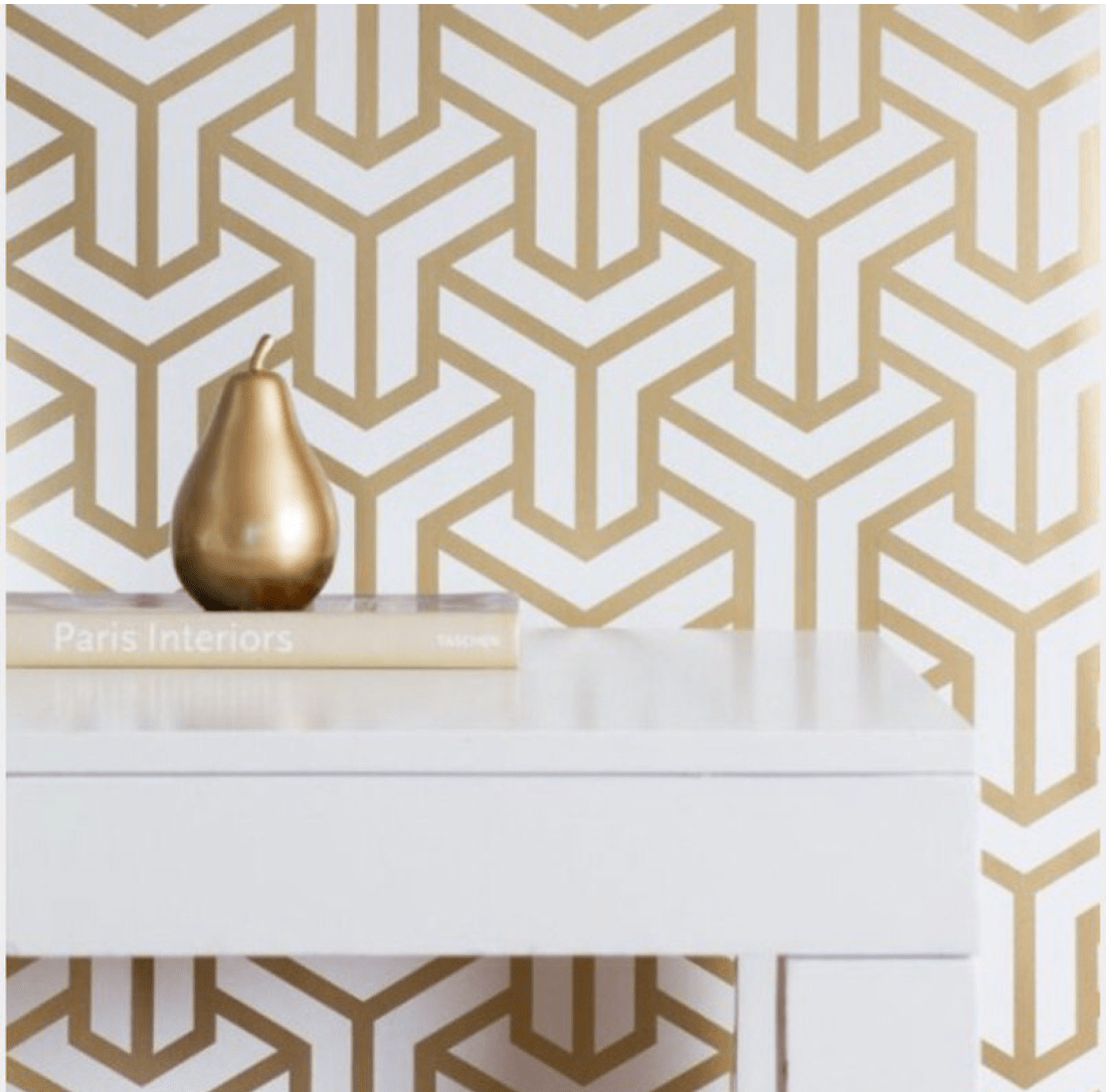 Gold Geometric symmetrical wallpaper