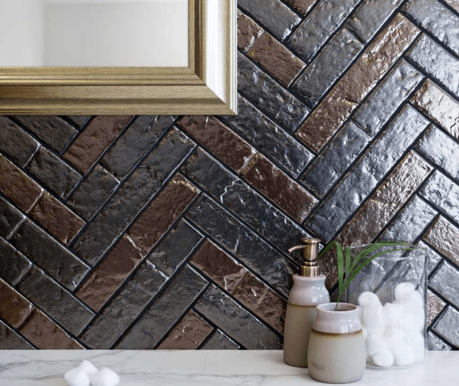 Metallic Tile with Sparkle