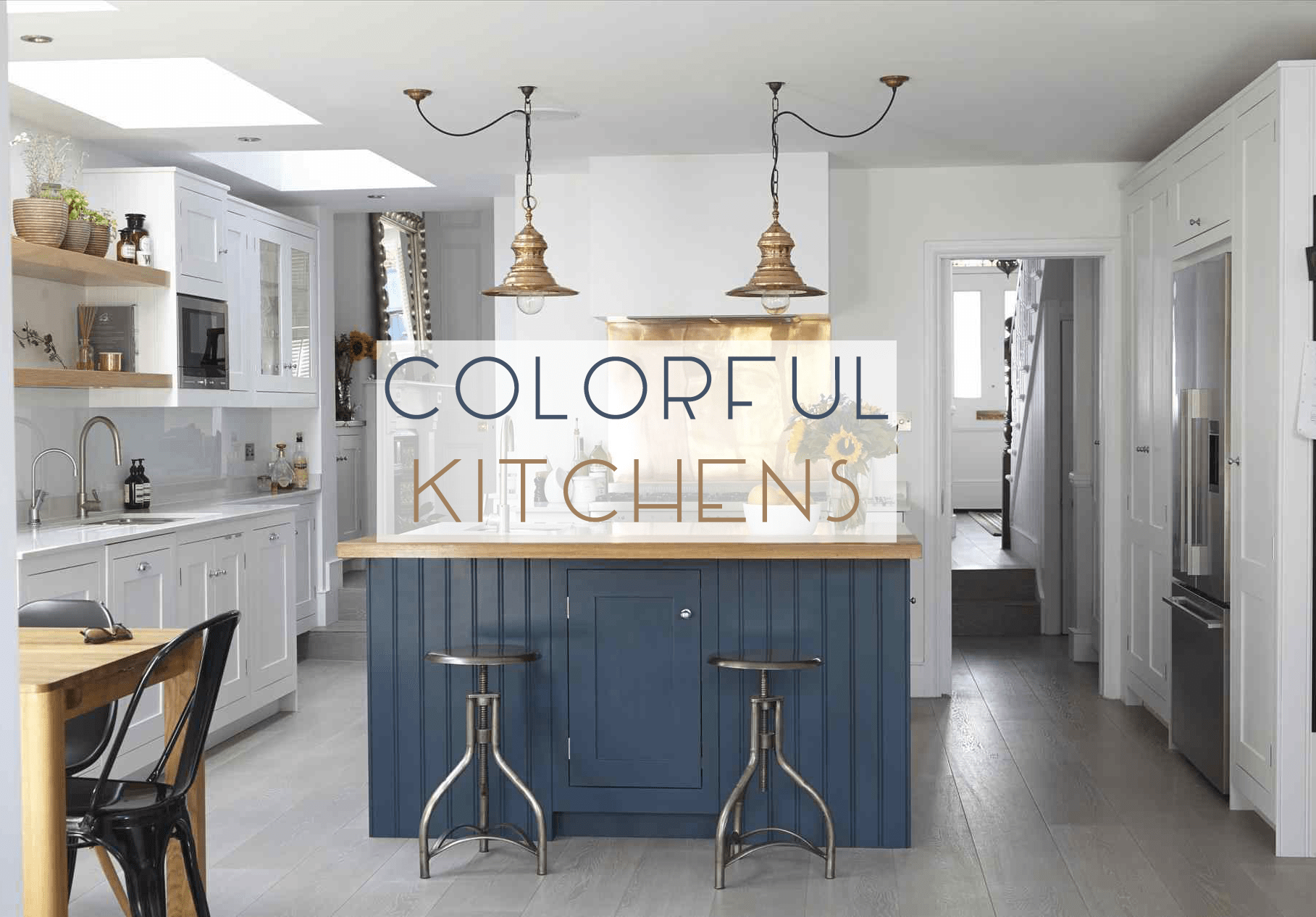 Prime 5 Colorful Kitchens We Love Instagram Catherine French Caraccident5 Cool Chair Designs And Ideas Caraccident5Info