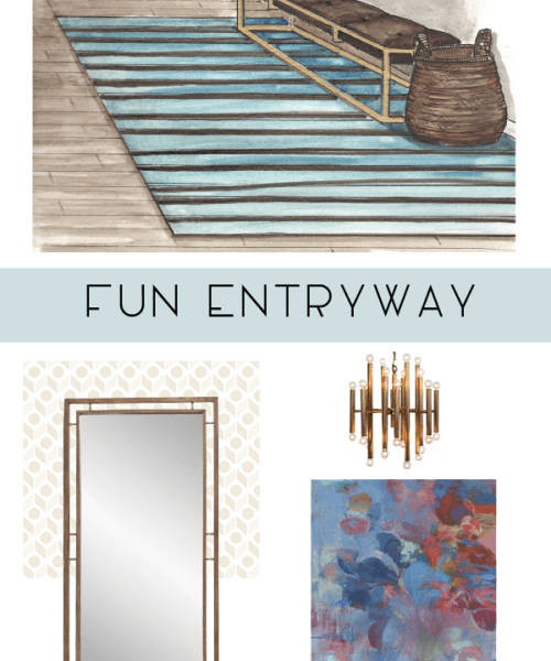 Catherine French Design - Fun Entryway