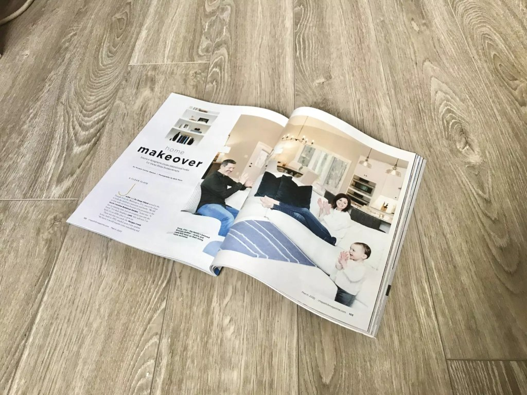 Chapel Hill Magazine Home Makeover Article