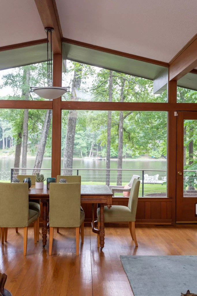 The view from the dining room Lakehouse Project - Catherine French Design