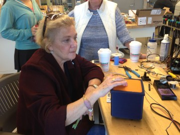Dr. Honan feels a prototype of the BeatBox to help us calibrate its settings
