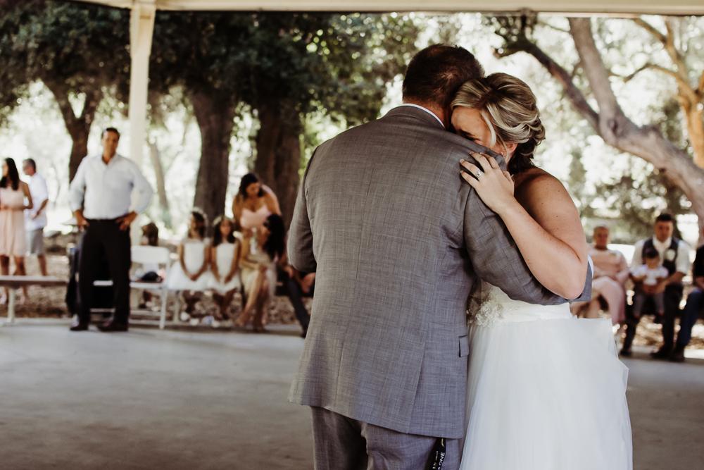 father daughter dance bride crying {virginia beach wedding couples family newborn photographer}