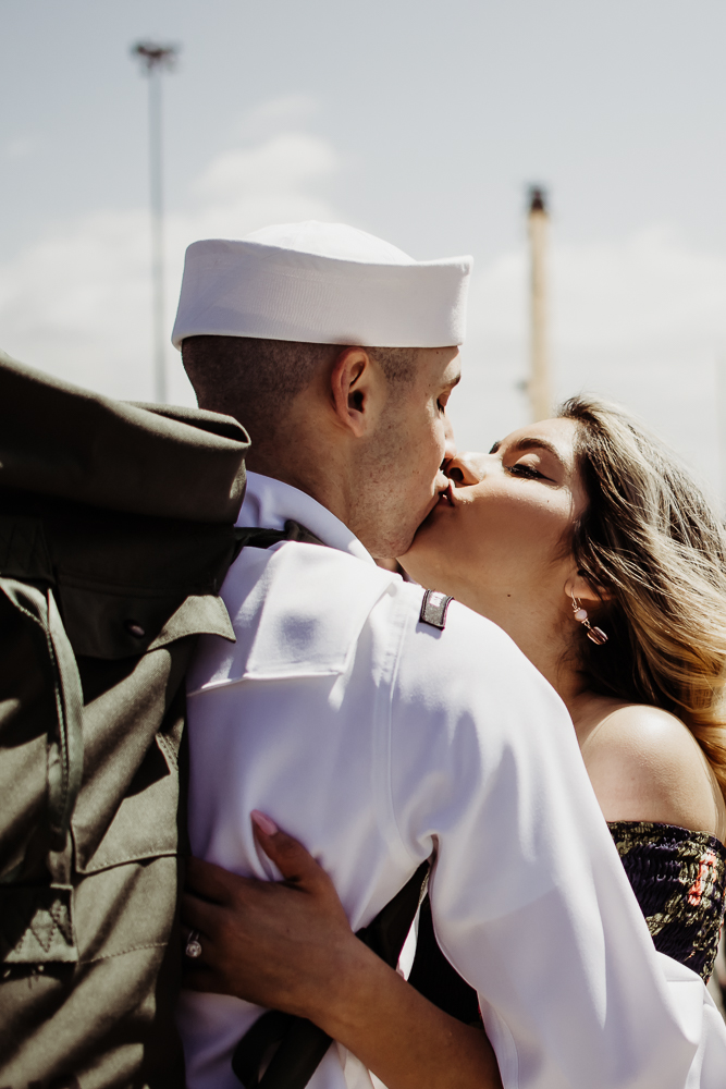 us navy military homecoming pregnant couple {virginia beach lifestyle newborn child couples family maternity engagement photographer}