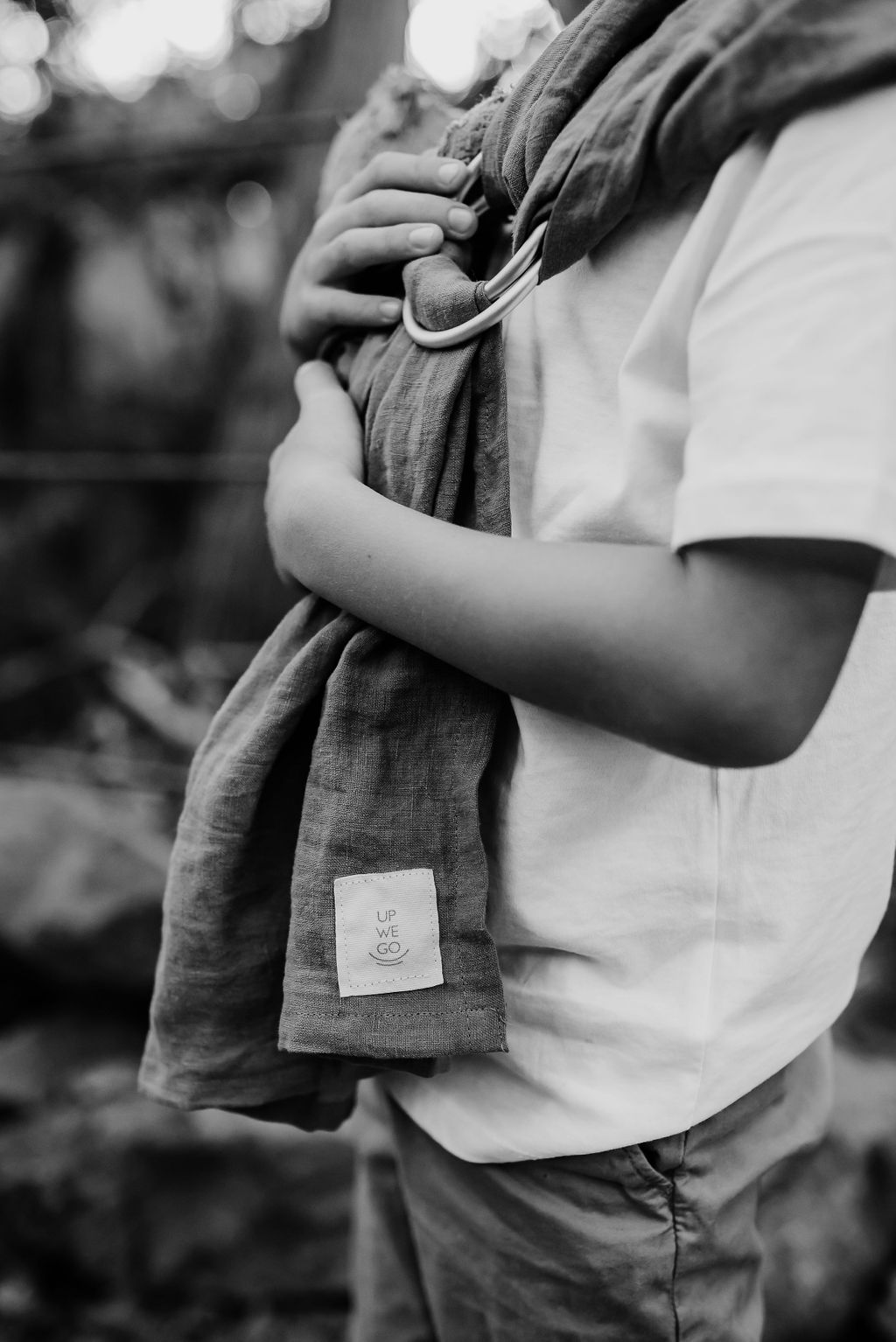 boy carrying teddy bear in Up We Go mini ring sling mission trails san diego {san diego virginia beach chesapeake lifestyle child couples family military homecoming photographer holistic healer transformational mentor}
