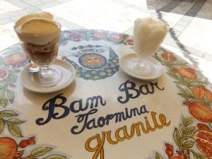 Granita on Bam Bar table