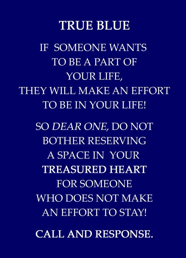 TRUE BLUE/CALL AND RESPONSE/TRUE BLUE | CATHERINE L. JOHNSON