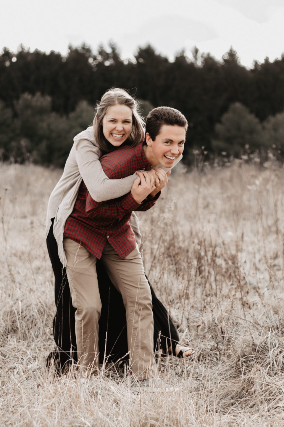 Playful Ohio Field Couples Session