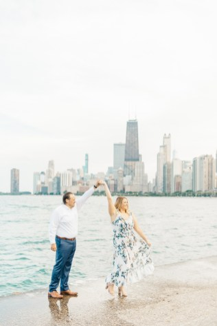 Downtown Chicago Lincoln Park and North Avenue Beach Engagement Catherine Milliron Photography
