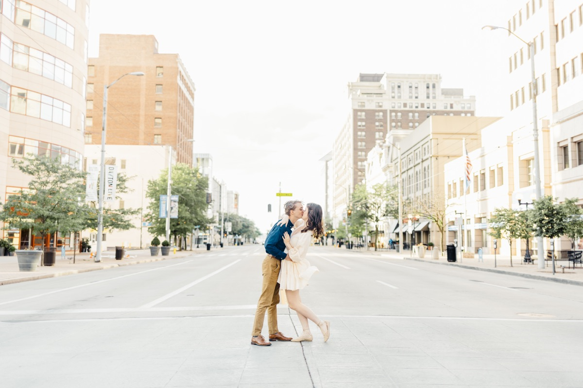Downtown Dayton Performing Arts District Engagement Session | Catherine Milliron Photography | Ohio and Destination Fine Art Wedding Photographer