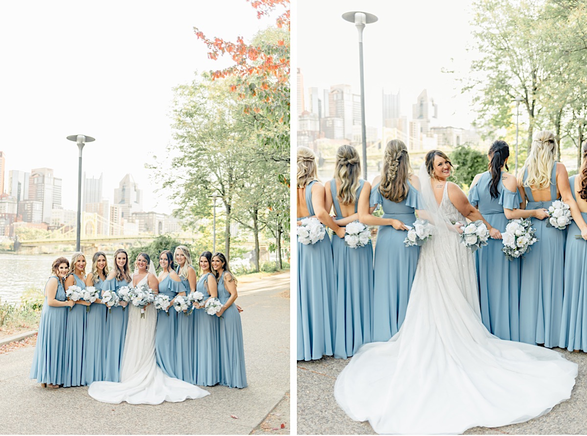 Pittsburgh Rooftop Destination Wedding with Stunning City Skyline View Catherine Milliron Photography