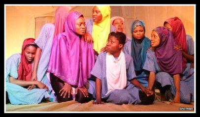 Students playing role of a Chibok girl