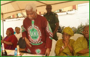 Dr. Alex Ekwueme, former Vice President, at our 50th anniversary party.