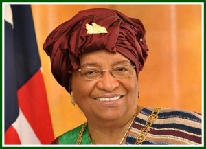 Ellen Johnson Sirleaf, President of Liberia, my first honoree for Women's History Month