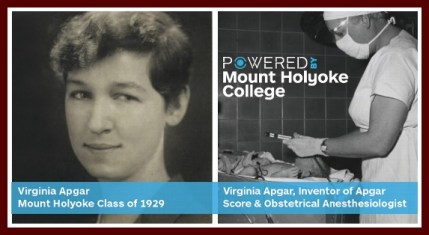 Virginia Apgar, picture from Mount Holyoke Alum Association via LinkedIn