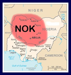 The area where Nok items have been found