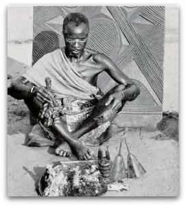 From Wikimedia, Igbo medicine man, or Dibia