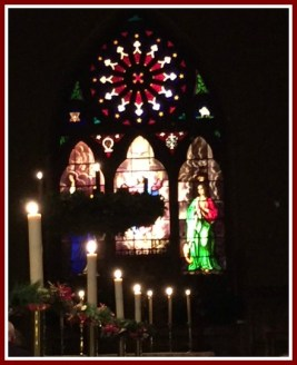The church was beautiful for the Lessons and Carols service.