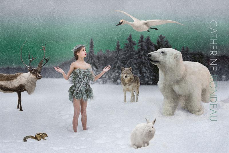 Paix sur Terre, photomontage de la photographe Catherine Rondeau de Montréal
