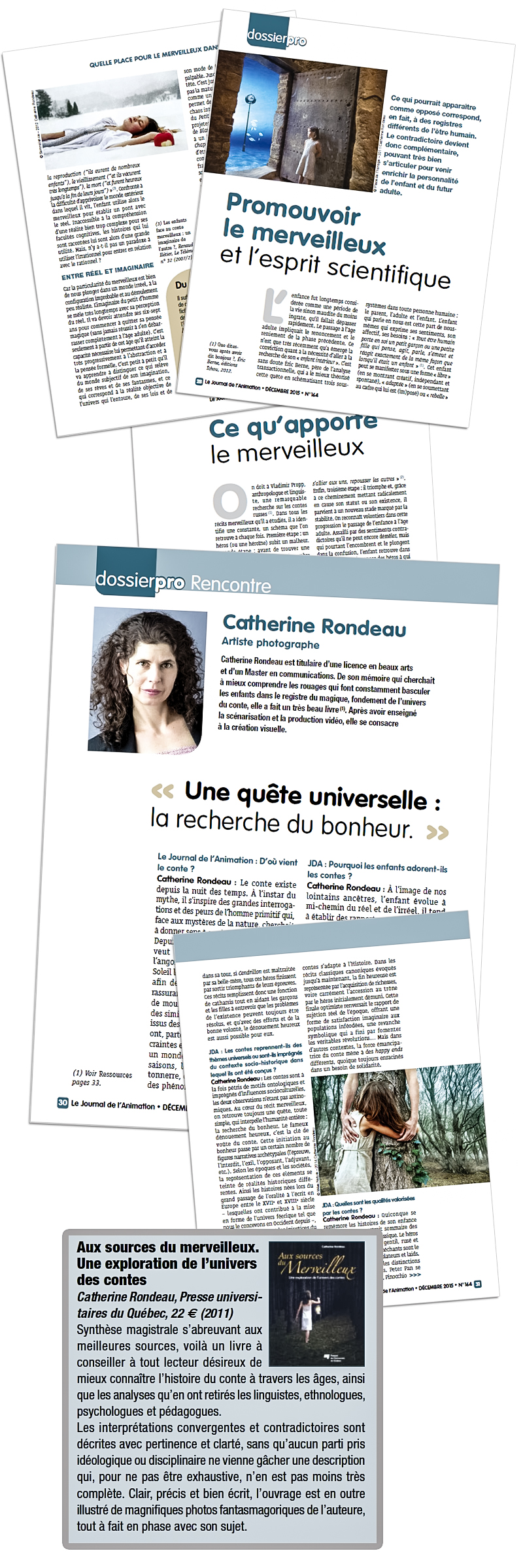 Montaga du Journal de l'animation avec Catherine Rondeau