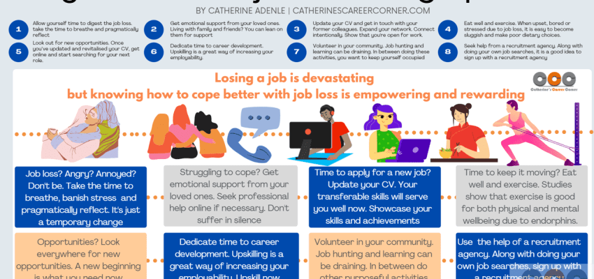 Infographic_8 Ways to Deal with Job Loss During a Pandemic